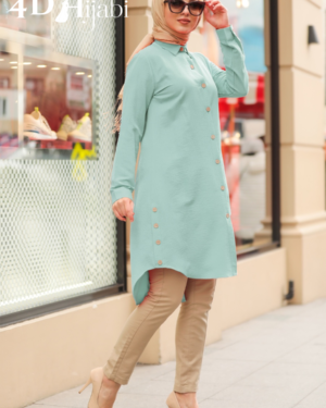 Mint Turkish Front-Buttoned Shirt